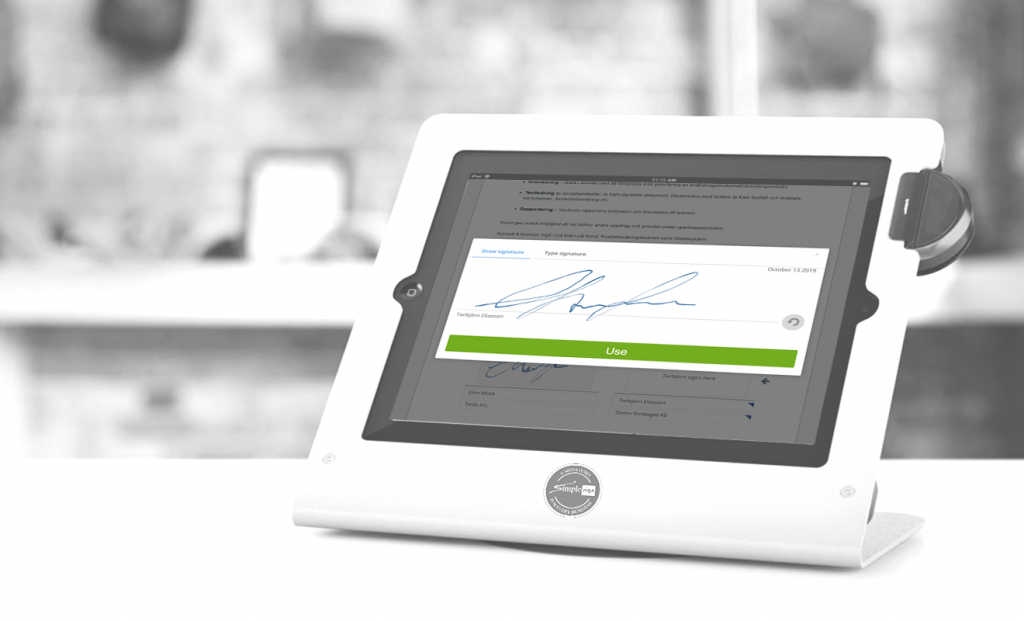 Point of sale eSignatures